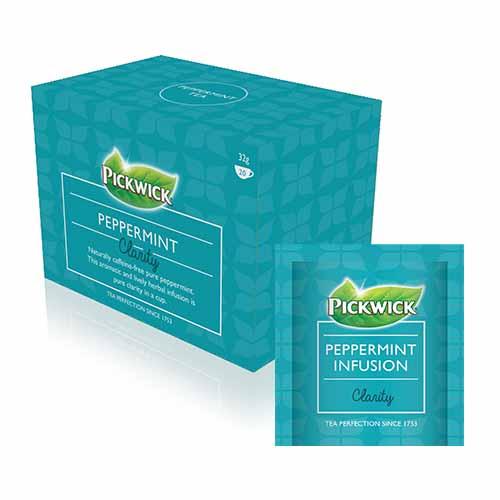 Pickwick Clarity Peppermint Enveloped Teas