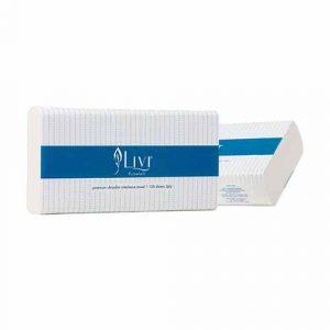 Livi Essentials 2ply Ultralslim Hand Towel