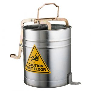 Metal Wringer Bucket with Castors - 15L