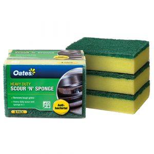 DuraFresh Antibacterial Scour 'N' Sponge - 3 Pack