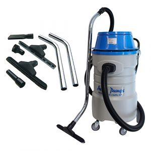 Aussie Pumps 75L wet-dry industrial vac with 40mm accessories