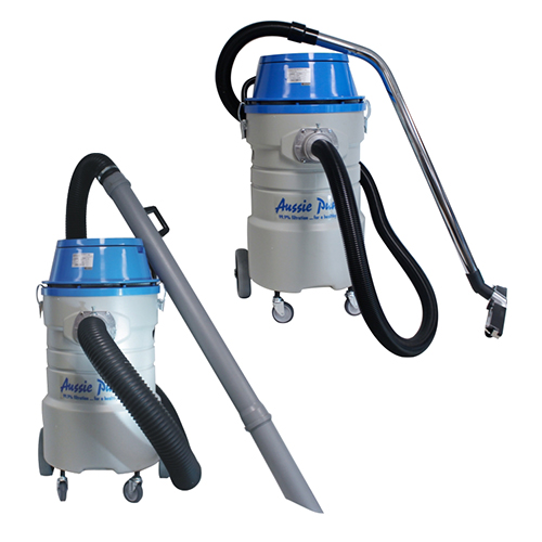 Aussie Pumps 75L Industrial Wet-Dry Vac with both 50mm & 90mm accessories