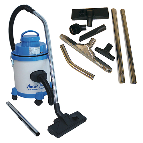 Aussie Pumps 10L Wet-Dry commercial vac with 32mm accessories