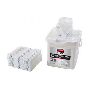 Rubbermaid HYGEN Disposable Microfibre Cloth Starter Kit