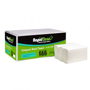 RapidClean Compact Hand Towel - 2400 sheets