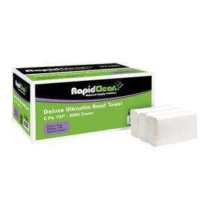 RapidClean Deluxe Ultraslim Hand Towel 2000 Sheets
