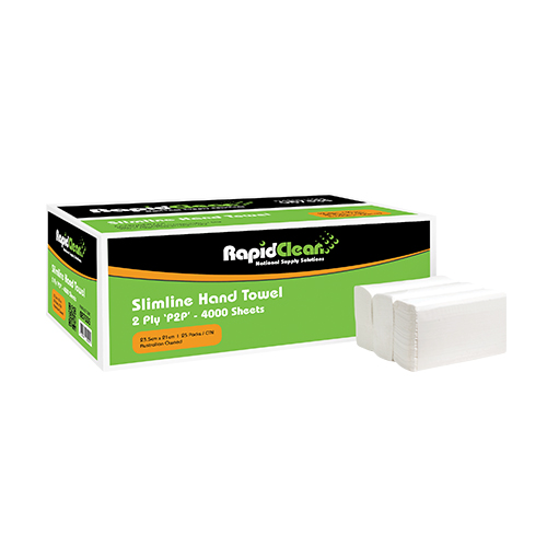 RapidClean Slimline Hand Towel 4000 Sheets