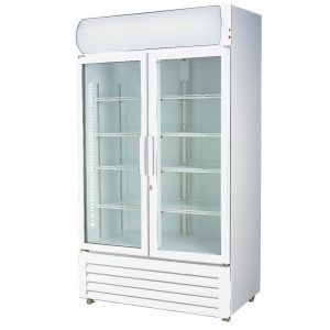 Double glass door colourbond upright drink fridge - LG-580GE